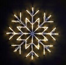 NEW CHRISTMAS LED SNOW FLAKE WHITE WINDOW LIGHTS