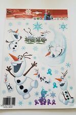 Fensterbilder Frozen Fenstersticker Weihnachten Schneemann Olaf Bogen 30x20 cm