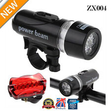 Waterproof Bright 5 LED Bike Bicycle Cycle Front and Rear Back Tail Light  ZX004