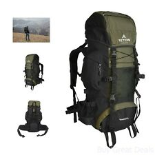 Backpack Internal Frame Hiking Camping Bag Travel Outdoor 55L Waterproof Rucksac