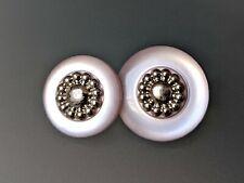 2 Größen zur Wahl Rosa // Silber Kunststoff 7x hübsche Trachtenknöpfe
