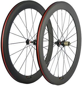 700C 60mm Carbon Wheels Road Bike Carbon Wheelset 23mm Width Clincher Basalt 3K