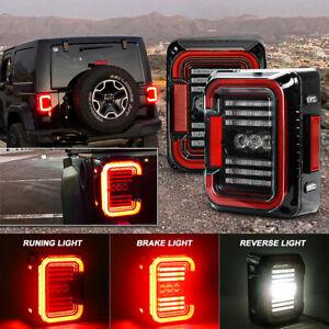 For Jeep Wrangler JK 2007-2017 2X LED Tail Lights Running / Reverse / Turn Lamps
