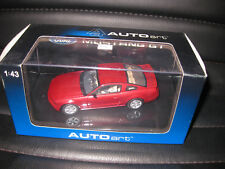 AUTOart 1.43 FORD MUSTANG GT 2005 (2004 AUTO SHOW VERSION) RED FIRE OLD STOCK