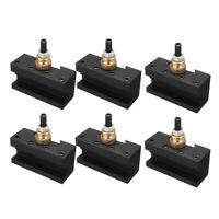 "6PCS CNC 1/4""-1/2"" Mini Lathe Quick Change Post Facing Milling Tool Holder"