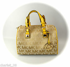 ~ MICHAEL KORS ~ TASCHE/BAG/SHOPPER GRAYSON ~ MD SATCHEL ~ BG/CM/CITRUS  ~