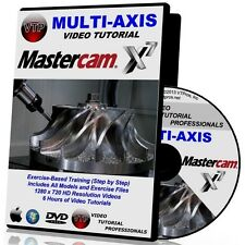 Mastercam X6-X7 Multi-Axis 4/5 Axis Video Tutorial Hd Courses Training 1 2 3 4 5
