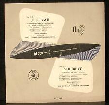 J. C. Bach Sinf op 18/1 Schubert Symph 3 Thor Johnson Cincinnati LP VG++ CV EX