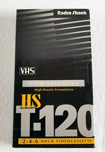 Radio Shack HS T-120 VHS Tapes HIGH STANDARD, 6 Hours Max NEW Made In USA