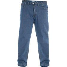 Mens Duke Bailey King Plus Size Extra Large Elastic Waist Cotton Rich Jeans