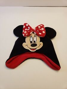 Disney Minnie Mouse Knit Hat Minnie Face Polka Dot Bow Minnie Mouse Ears