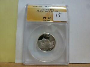 2004-S Silver Iowa Statehood Quarter ANACS PF70DCAM #438