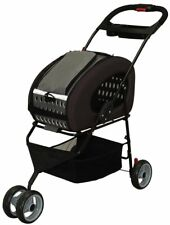Iris Ohyama 4WAY Dog Drive Carry Stroller Pet Cart FPC-920 Brown from Japan F/S
