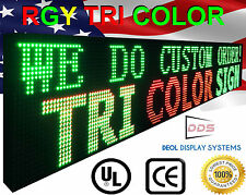 "25"" x 88"" Outdoor Led Sign 10mm Scroll Logo Text Animation Display Programmable"