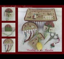 10% Off Mani di Donna Counted X-stitch chart - Working in the Garden Sewing Box