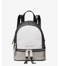 Michael Kors Rhea Mini Color-Block Logo Backpack White/Multi