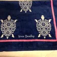 Vera Bradley Sea Turtle Beach Towel W/ Flip Flops Large