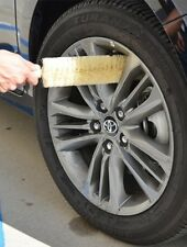 "17"" Car Rim Wheel Spoke Ferret Brush Flexible Bendable Medium Soft w/ rubber Cap"