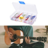 24X Acoustic Electric Guitar Picks Plectrums w/ Pick Case Assorted 6 thickness.S