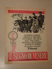 FILM IL SEGNO DI VENERE SOPHIA LOREN=ANNI '50=PUBBLICITA=ADVERTISING=306