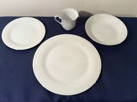 4 pc set Crown Ming China Dinner Salad Plate Cup Bowl Crochet Pattern