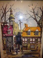 Nikola Wonderful Rue De Tresar Quebec Wonderful Original Watercolor Framed Print