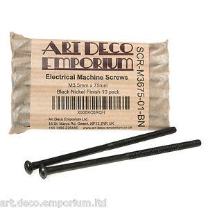 Electrical Screws M3.5 x 75mm in Black Nickel Finish (10 Pack)