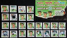 24 Stk FERRERO Team-Sticker DFB Fußball WM 2010 Hanuta + Leerposter *ungeklebt*