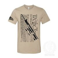 Iron Gods We The People T-Shirt Distressed AR-15 Military Rifle US Armed Forces