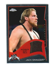 WWE Jack Swagger 2014 Topps Chrome Event Used Shirt Relic Card Brown w/Stripe