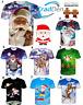 New Santa Claus 3D Funny T Shirt Men Women Weed  S M L XL XXL Dollar Christmas L