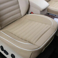 Car Front Seat Cover Breathable PU Leather Cushion Chair Mat Pad Protector cozy