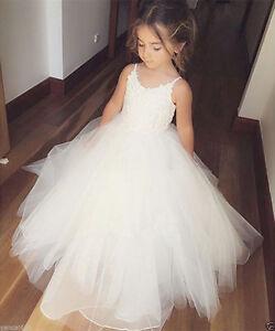 Flower Girl Princess Dress Kid Party Pageant Wedding Bridesmaid Tutu Dresses &&&