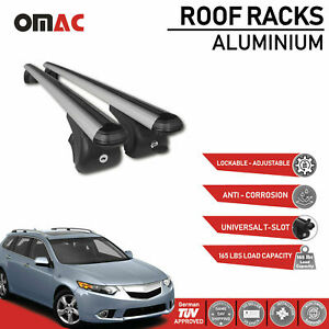 Roof Rack Cross Bars Luggage Carrier Silver for Acura TSX Sport Wagon 2011-2014