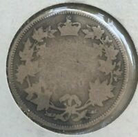 1870 Canada 25 Cents - Well Worn Silver