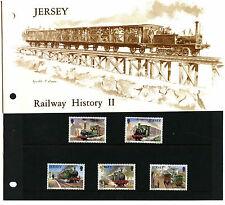 Jersey 1985 Railway History MNH Presentation Pack #C40506