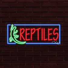 "Brand New ""Reptiles"" w/Border 32x13X1 Inch Led Flex Indoor Sign 31470"