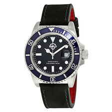 Shield Cousteau Black Dial Blue Bezel Mens Watch SLDSH0805
