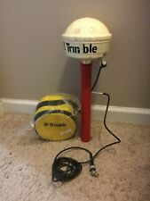 TRIMBLE GPS ANTENNA 33580-50 WITH CASE AND CABLES And Pole