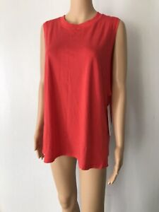 LULULEMON All Yours Tank Women's Top Color Blood Orange Size 8 NEW w/Tags