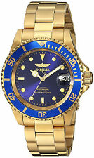 Invicta Oro Reloj Automatic Gold Bracelet Pulsera Hombre Man Watch Crystal Hand