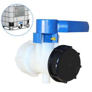 Fpr IBC Tank Adapter S60x6 Coarse Thread Drain Container Rainwater Tap Valve UK