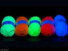 Schwarzlicht Uv Leucht Wolle Set 10 x 50g Neon Deko Stringart mix