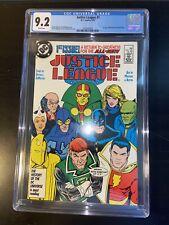 Justice League #1 DC Comics (5/87) CGC 9.2 1st Maxwell Lord aka Black King