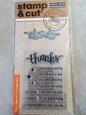 Hero Arts Stamp and Cut Thanks Stamp with Matching Die Cut Set DC152 NEW