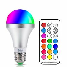 LED Color Changing Light Bulb With Remote Control 10w E26/e27 RGB Daylight White