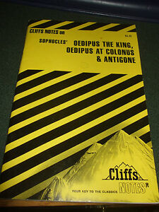 Oedipus the King, Oedipus at Colonus and Antigone Cliffs Notes (1965, Paperback)