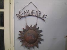 Sign Welcome to hang on a Wall Wrought Iron Vintage Top 900'