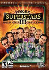 Poker Superstars III: Gold Chip Challenge 3 PC Game Window 10 8 7 Vista Computer