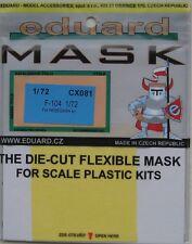 Eduard 1/72 cx081 Canopy maschera per il HASEGAWA LOCKHEED F-104 STARFIGHTER KIT